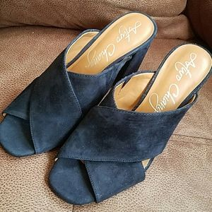 Arturo Chiang navy suede shoes